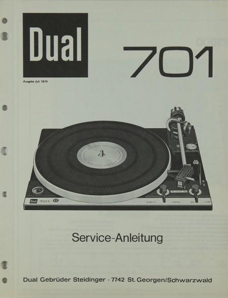 Dual 701 Schaltplan / Serviceunterlagen