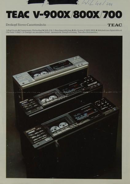 Teac V-900 X / 800 X / 700 Prospekt / Katalog