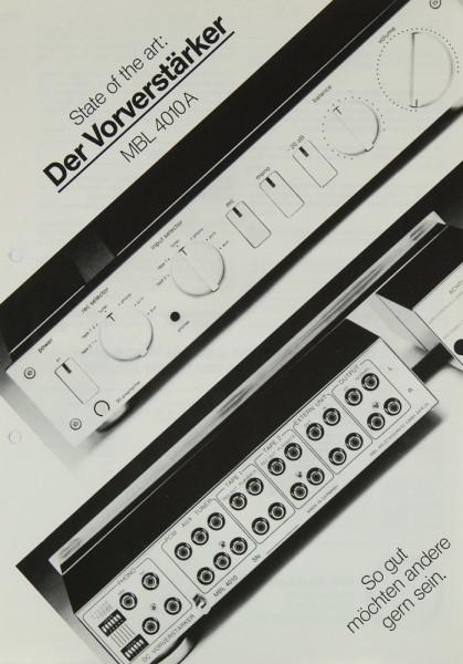 MBL 4010 A Prospekt / Katalog