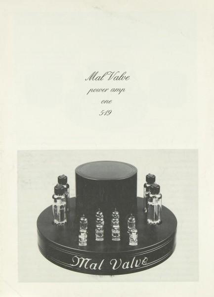 Mal Valve Power Amp One 519 Bedienungsanleitung
