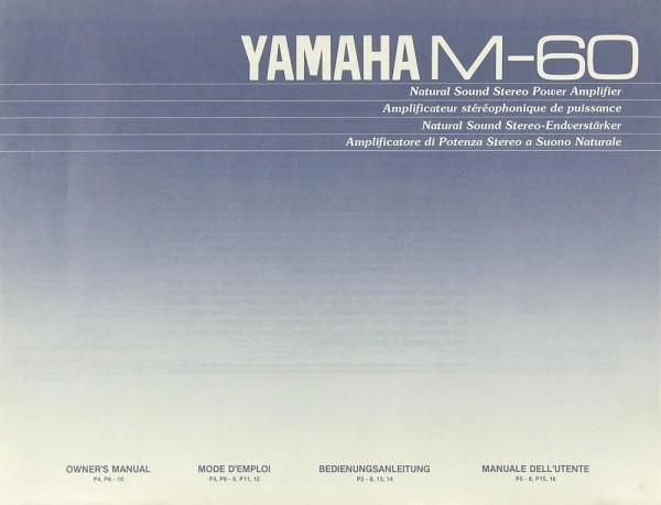 Yamaha M-60 Bedienungsanleitung