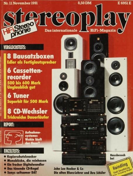 Stereoplay 11/1991 Zeitschrift