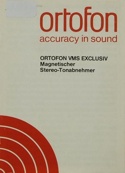 Ortofon Ortofon VMS Exclusiv Bedienungsanleitung