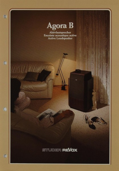Revox Agora B Prospekt / Katalog
