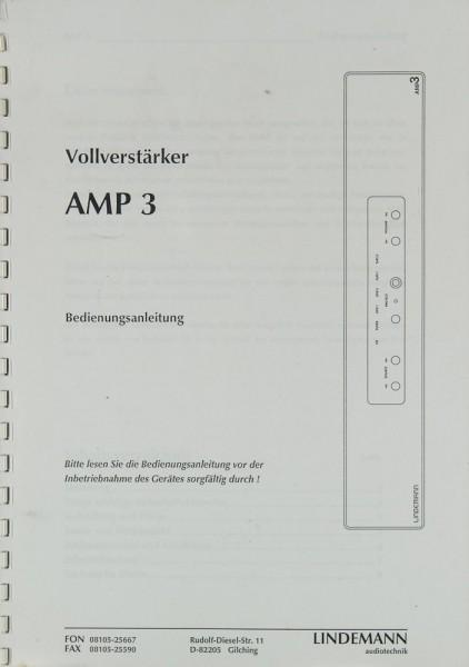 Lindemann AMP 3 Bedienungsanleitung