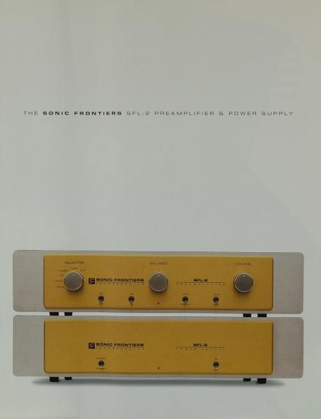 Sonic Frontiers SFL-2 Prospekt / Katalog