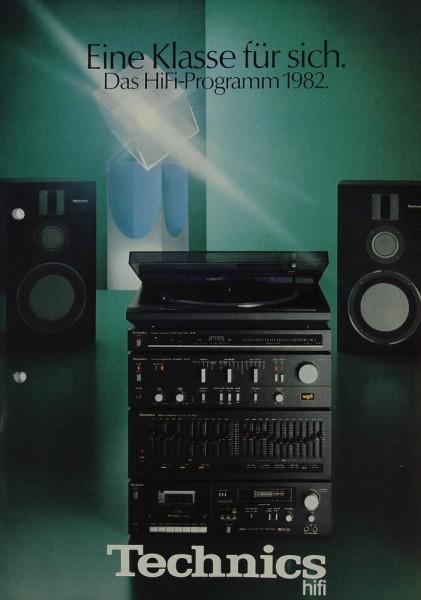Technics Das Hifi-Programm 1982 Prospekt / Katalog