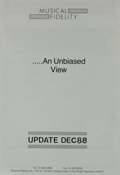 Musical Fidelity An Unbiased View Prospekt / Katalog
