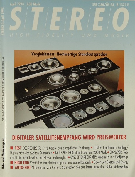 Stereo 4/1993 Zeitschrift