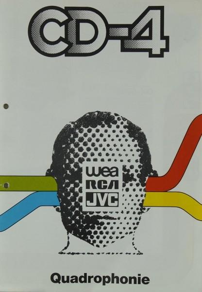 Wea / RCA / JVC CD-4 / Quadrophonie Prospekt / Katalog