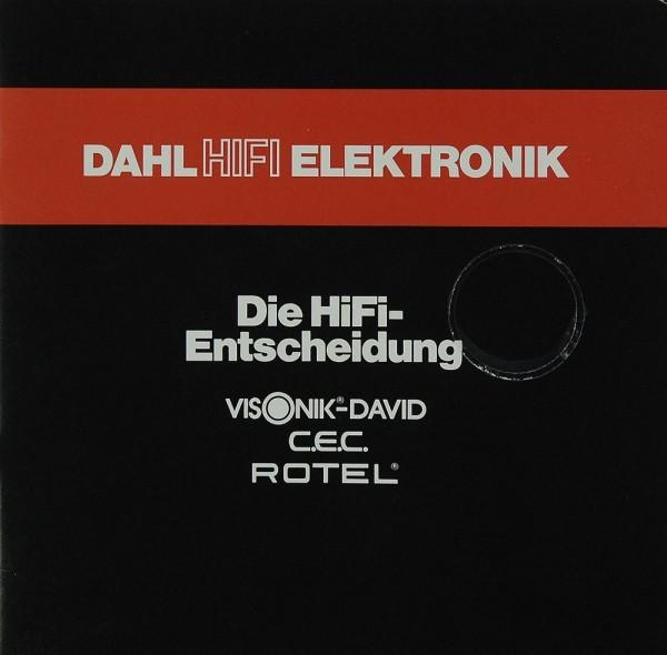 Dahl Hifi Elektronik Hifi Entscheidung: Visonik-David / C.E.C. / Rotel Prospekt / Katalog