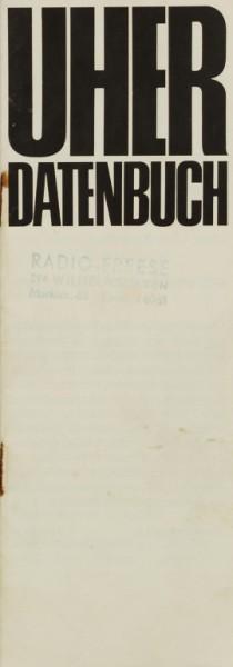 Uher Datenbuch Prospekt / Katalog