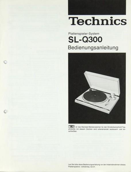 Technics SL-Q 300 Bedienungsanleitung