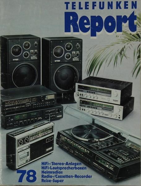 Telefunken Report 78 Prospekt / Katalog