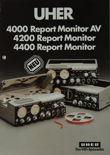 Uher 4000 Report Monitor AV / 4200/4400 Report Monitor Prospekt / Katalog