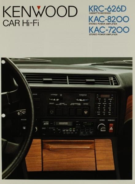 Kenwood Car Hi-Fi KRC-626D / KAC-8200 / KAC-7200 Prospekt / Katalog