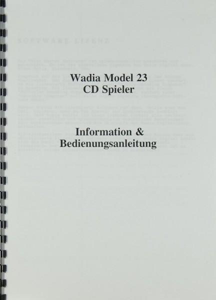 Wadia Model 23 Bedienungsanleitung