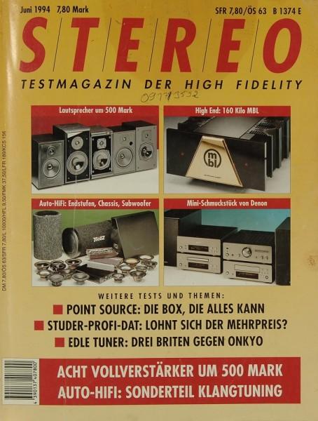 Stereo 6/1994 Zeitschrift