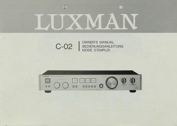 Luxman C-02 Bedienungsanleitung