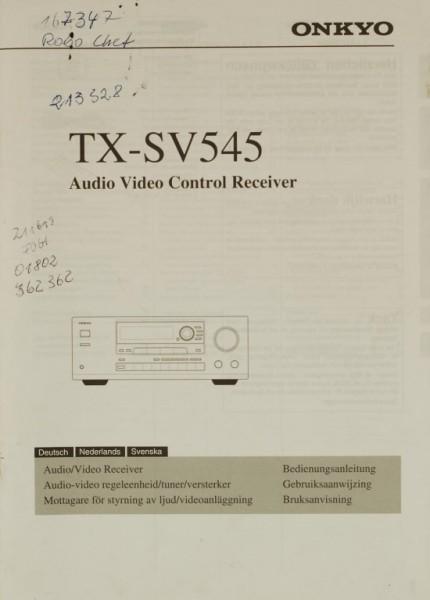 Onkyo TX-SV 545 Bedienungsanleitung