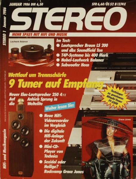 Stereo 1/1986 Zeitschrift