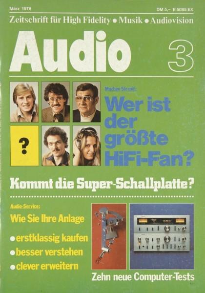 Audio 3/1978 Zeitschrift