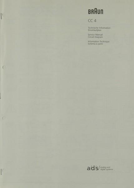 Braun CC 4 Schaltplan / Serviceunterlagen