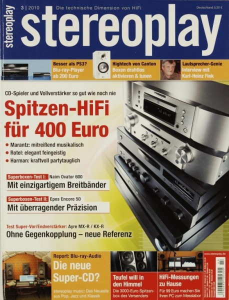 Stereoplay 3/2010 Zeitschrift