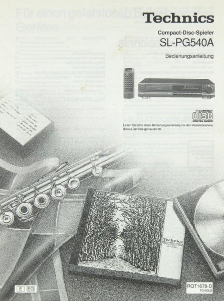 Technics SL-PG 540 A Bedienungsanleitung