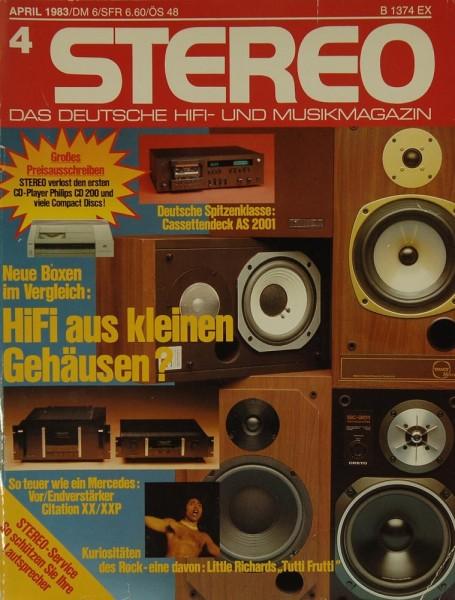 Stereo 4/1983 Zeitschrift