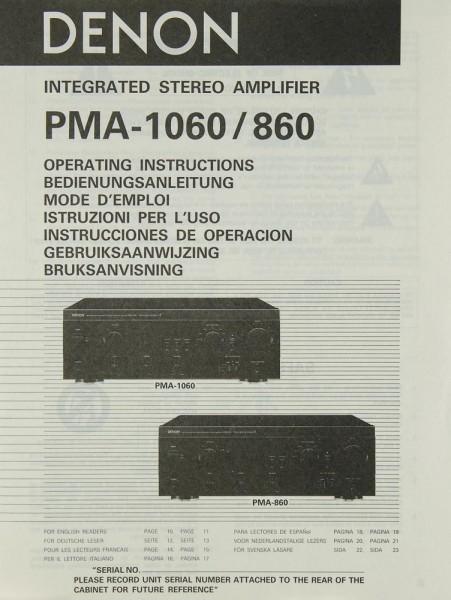 Denon PMA-1060 / 860 Bedienungsanleitung