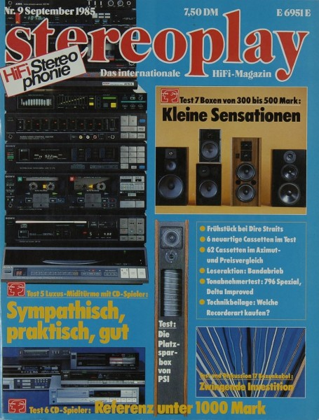 Stereoplay 9/1985 Zeitschrift