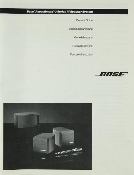 Bose Acoustimass-3 Series III Bedienungsanleitung