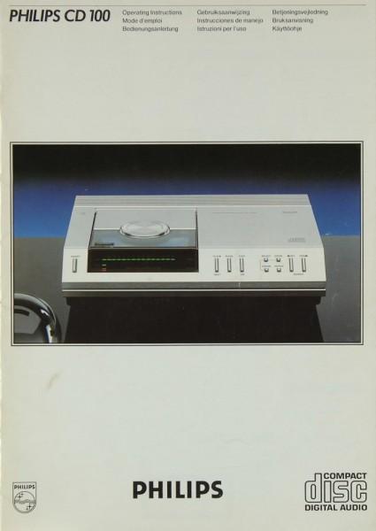 Philips CD 100 Bedienungsanleitung