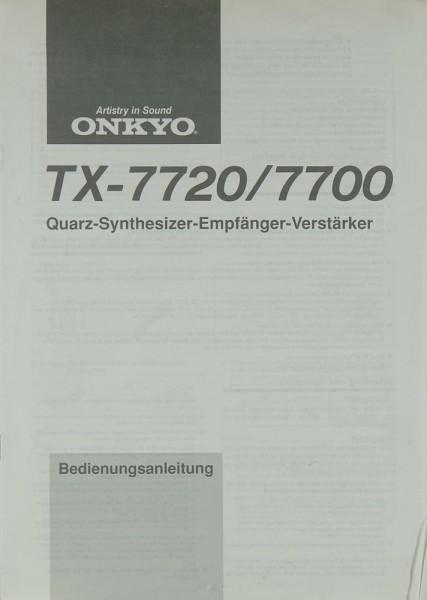 Onkyo TX-7720 / 7700 Bedienungsanleitung