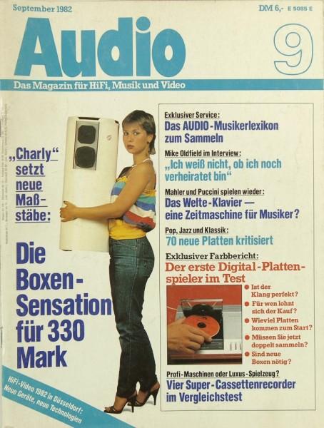Audio 9/1982 Zeitschrift