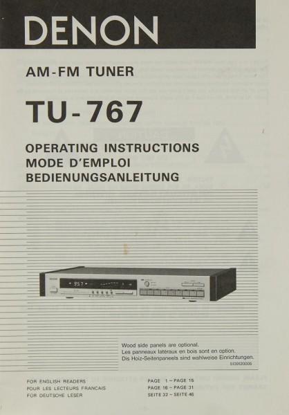 Denon TU-767 Bedienungsanleitung