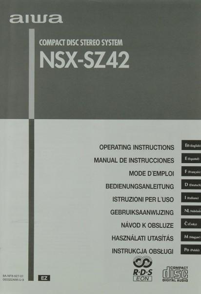 Aiwa NSX-SZ 42 Bedienungsanleitung