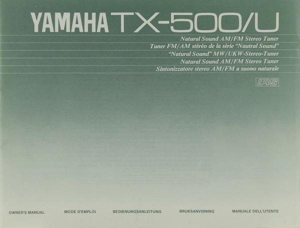 Yamaha TX-500/U Bedienungsanleitung