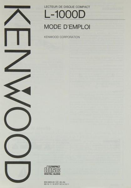 Kenwood L-1000 D Bedienungsanleitung