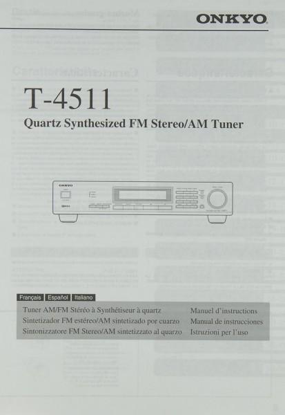 Onkyo T-4511 Bedienungsanleitung