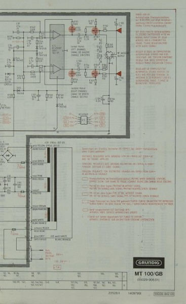 Grundig MT 100/GB / MXV 100 Schaltplan / Serviceunterlagen ...