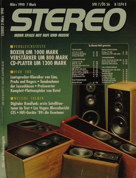Stereo 3/1990 Zeitschrift