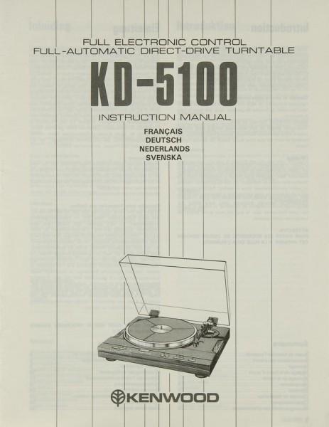 Kenwood KD-5100 Bedienungsanleitung