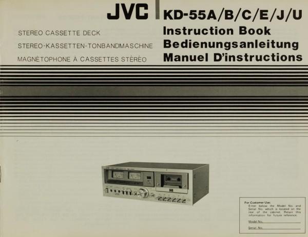 JVC KD-55 A/B/C/E/J/U Bedienungsanleitung