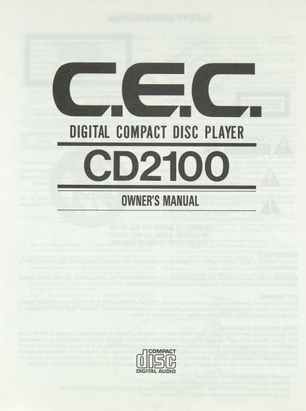 CEC CD 2100 Bedienungsanleitung