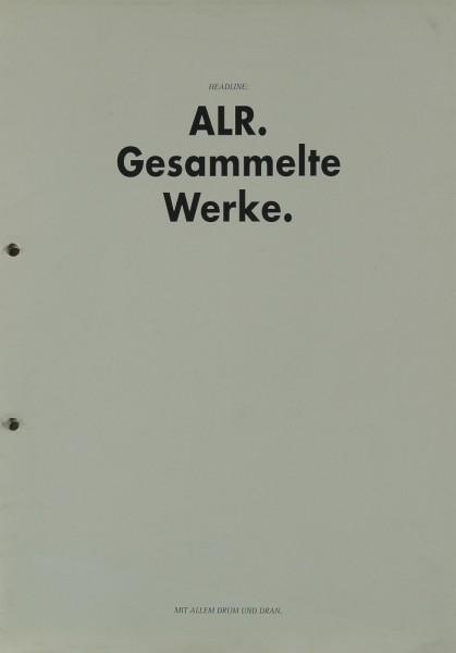 ALR Gesammelte Werke Prospekt / Katalog
