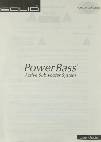 B&W Solid Power Bass Bedienungsanleitung