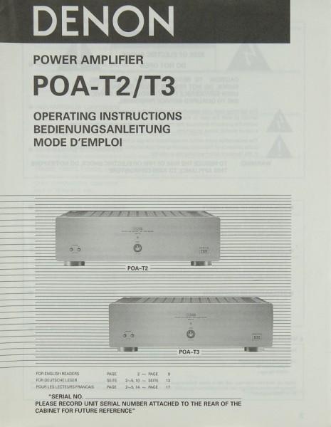 Denon POA-T 2 / T 3 Bedienungsanleitung