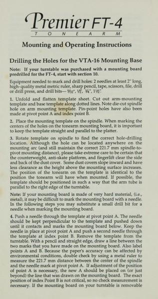 Premier FT-4 Bedienungsanleitung